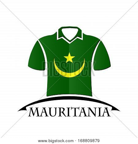 shirts icon made from the flag of Mauritania