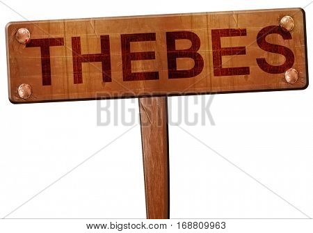 thebes road sign, 3D rendering