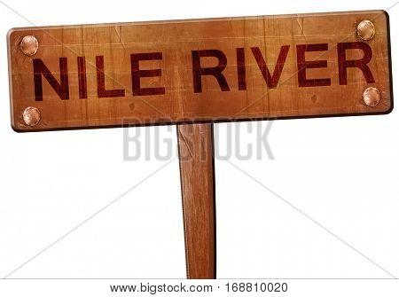 nile river road sign, 3D rendering