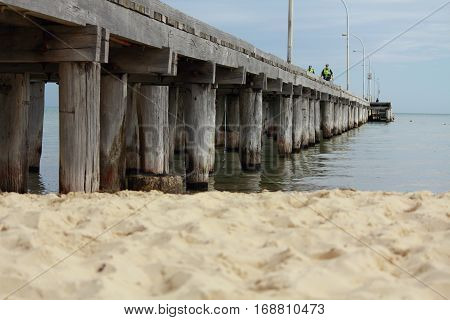 A pier at Altona beach, Melbourne, Australia