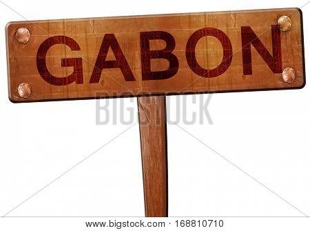 Gabon road sign, 3D rendering