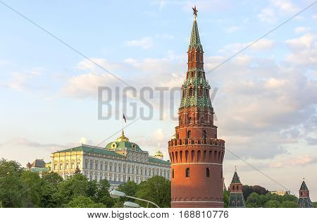 The residence of the President of the Russian Federation in the Kremlin