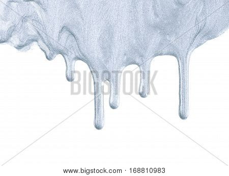 Copyspace backdrop composition made of splashed paint drop spills isolated over the white background