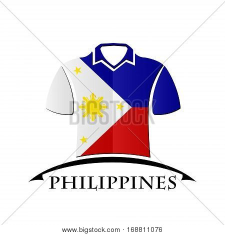 shirts icon made from the flag of Philippines