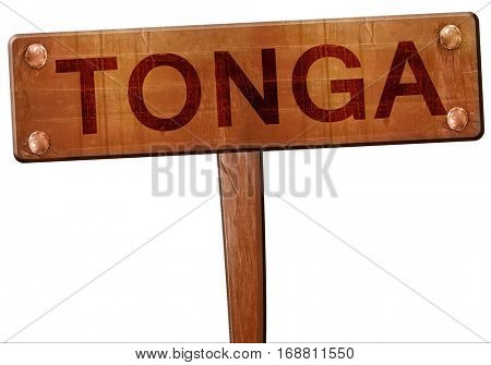 Tonga road sign, 3D rendering