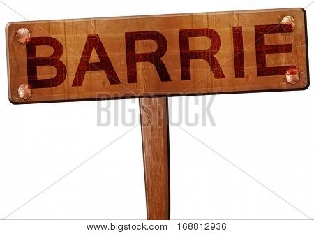 Barrie road sign, 3D rendering