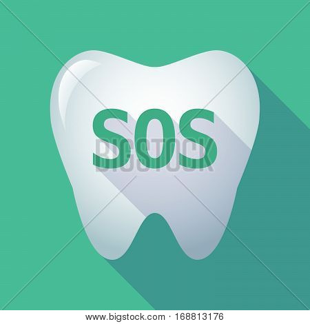Long Shadow Tooth With    The Text Sos