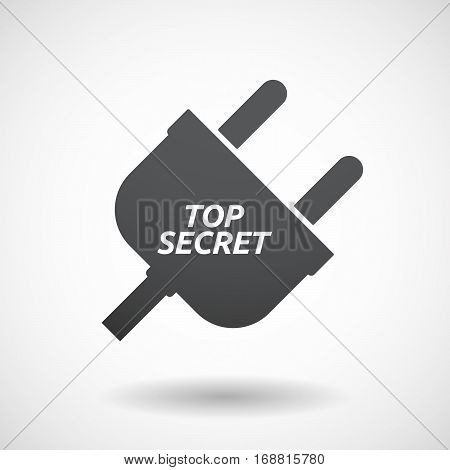 Isolated Plug With    The Text Top Secret