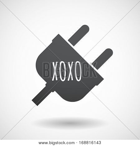 Isolated Plug With    The Text Xoxo