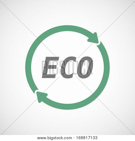 Isolated Reuse Sign With    The Text Eco