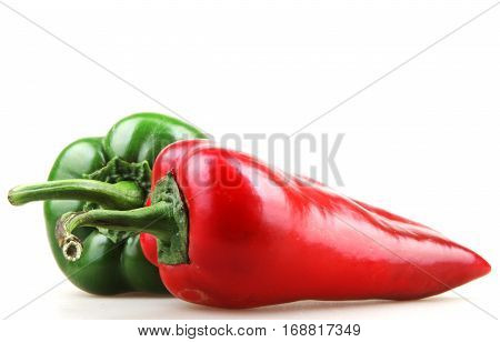 Red Chilli Peppers Color Image Stock Photos