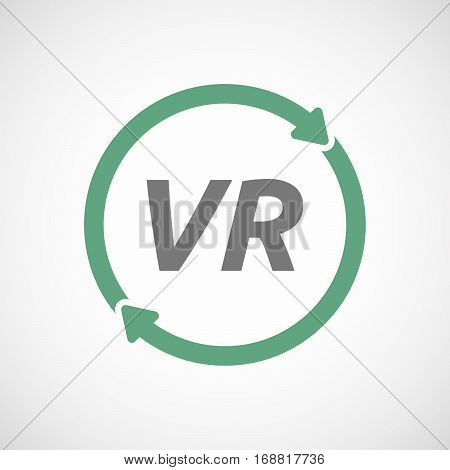 Isolated Reuse Sign With    The Virtual Reality Acronym Vr