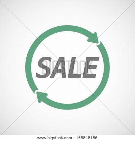 Isolated Reuse Sign With    The Text Sale