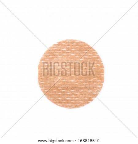 Adhesive bandage sticking plaster isolated over the white background