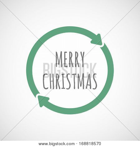 Isolated Reuse Sign With    The Text Merry Christmas