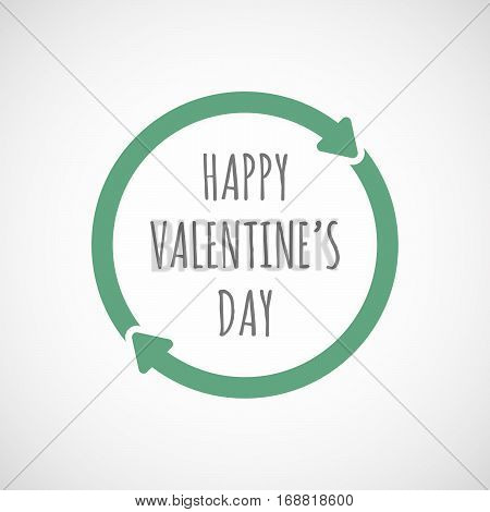 Isolated Reuse Sign With    The Text Happy Valentines Day