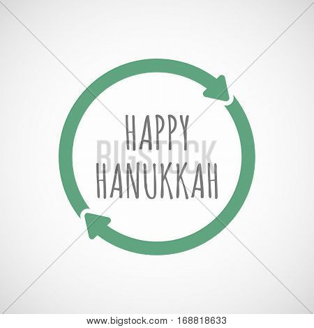 Isolated Reuse Sign With    The Text Happy Hanukkah