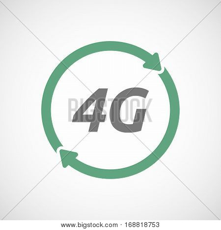 Isolated Reuse Sign With    The Text 4G