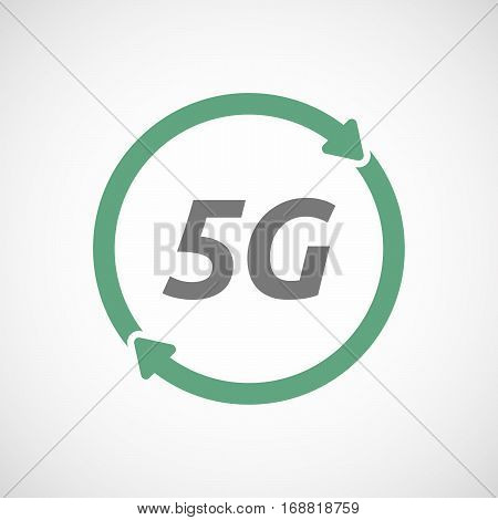 Isolated Reuse Sign With    The Text 5G