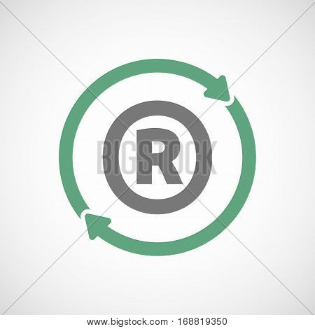 Isolated Reuse Sign With    The Registered Trademark Symbol
