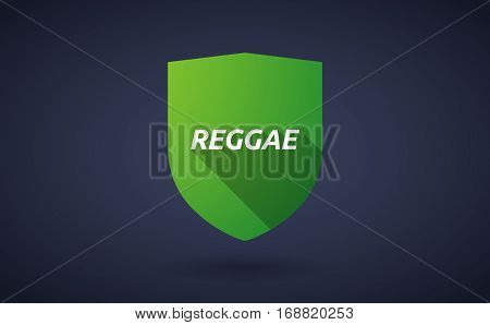 Long Shadow Shield With    The Text Reggae