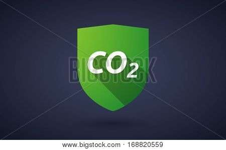 Long Shadow Shield With    The Text Co2