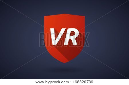 Long Shadow Shield With    The Virtual Reality Acronym Vr