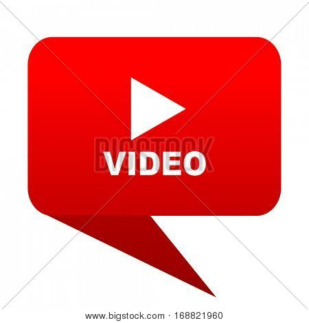 video bubble red icon
