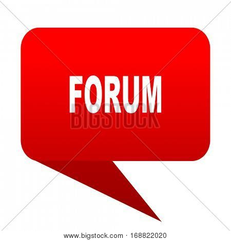 forum bubble red icon
