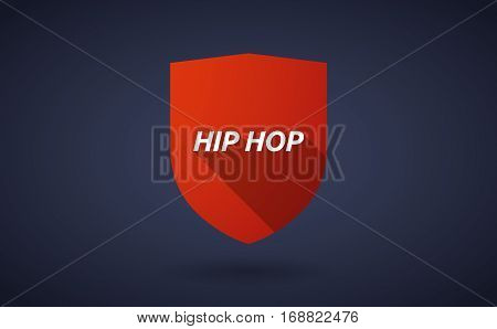 Long Shadow Shield With    The Text Hip Hop