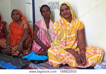 Women Are Visiting Educational Center In Jaipur, India