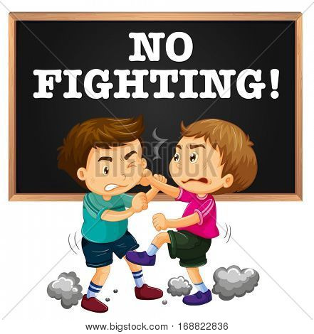 No Fighting Sign No Fighting Images, Il...