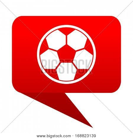 soccer bubble red icon