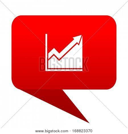 histogram bubble red icon