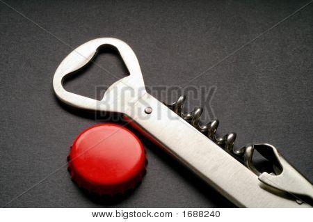 Steel Corkscrew And Bottle Opener (2)