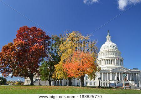 Washington DC in Autumn - United States Capitol