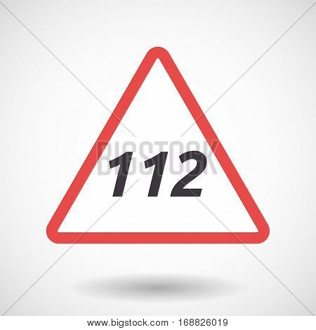 Isolated Warning Signal With    The Text 112