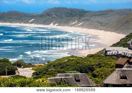 View of the beach of Brenton on Sea South Africa