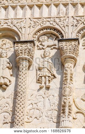 Stone Carving On The Walls Of Saint Demetrius Cathedral, Vladimir