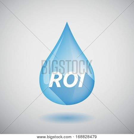 Long Shadow Water Drop With    The Return Of Investment Acronym Roi