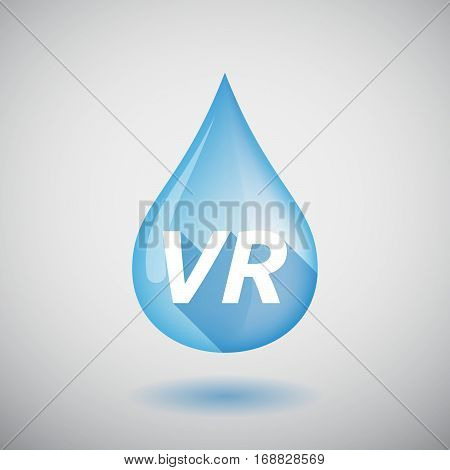 Long Shadow Water Drop With    The Virtual Reality Acronym Vr