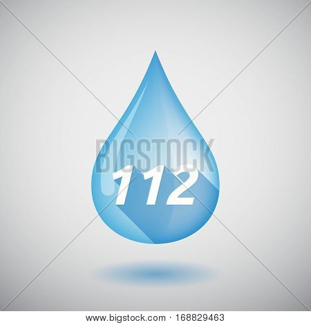 Long Shadow Water Drop With    The Text 112