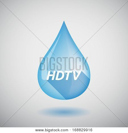 Long Shadow Water Drop With    The Text Hdtv
