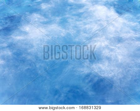 Bubbles of water in the swiming pool