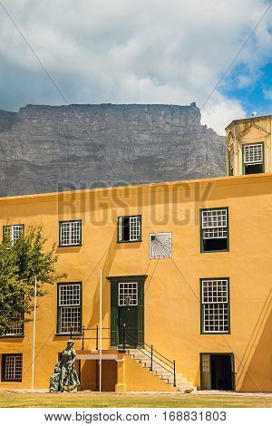 Castle of Good Hope Cape Town with a view of Table Mountain