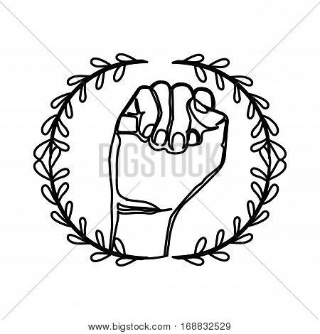 Clenched fist symbol icon vector illustration graphic design
