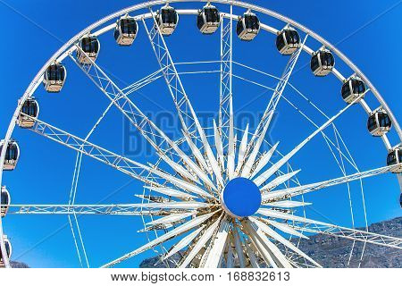 Ferris wheel at the waterfront in Cape Town