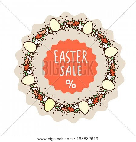 Easter sale icon design - for stickers, tags, posters
