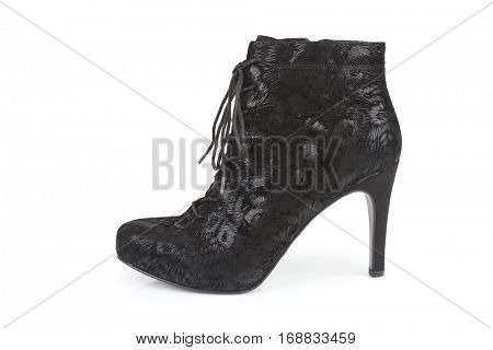 Black ankle boot isolated on white (with shadow)