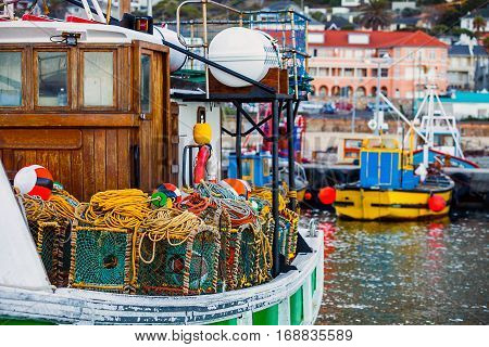 In the fishing port of Fish Hoek South Africa